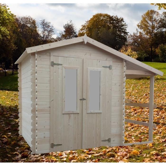 abri de jardin en bois avec bucher 6m2 eldorado bouvara bouvara des prix attractifs. Black Bedroom Furniture Sets. Home Design Ideas