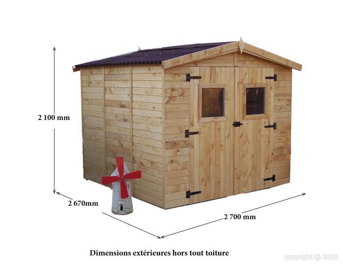 Abri de jardin en bois eden x m avec plancher bouvara ed bouvara des prix - Abri de jardin en bois avec plancher ...