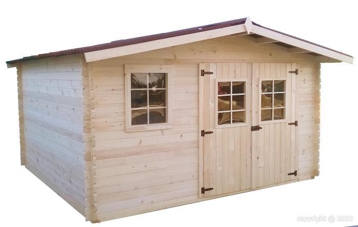 Abri de jardin en bois capri 4x4 m bouvara for Abris de jardin en bois pas cher
