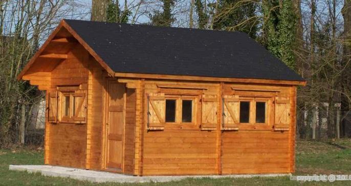 abri de jardin chalet habitable magny 5x6 m paisseur 60. Black Bedroom Furniture Sets. Home Design Ideas