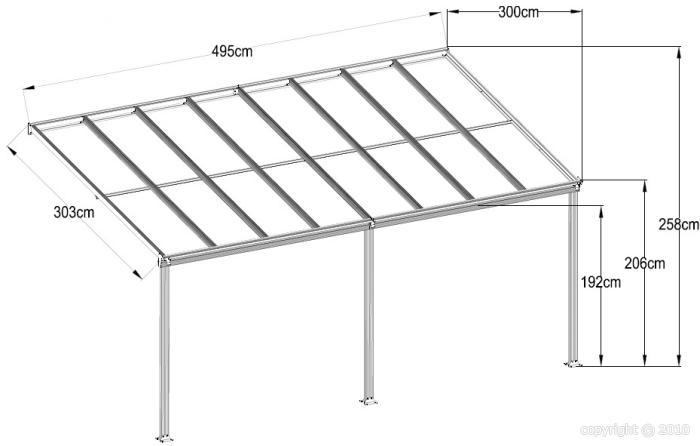 toit terrasse pergola 5x3 m en aluminium blanc bouvara tt3050bw8 bouvara des prix attractifs. Black Bedroom Furniture Sets. Home Design Ideas