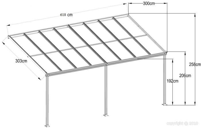 Toit terrasse pergola 6x3 m en aluminium anthracite for Prix toit terrasse au m2