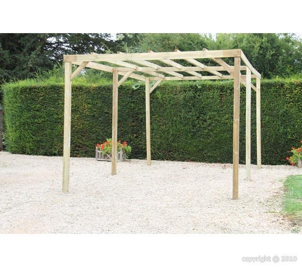 Pergola en bois 3 x 5 m bouvara car3050a bouvara des for Pergolas pas cher