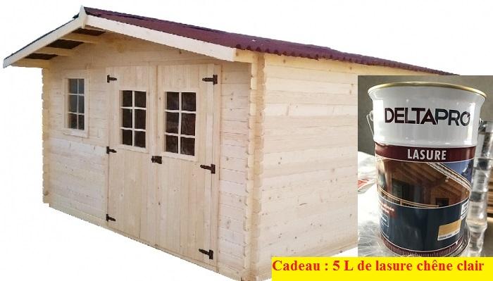 Abri de jardin bois 3x3 for Grand abri de jardin en bois