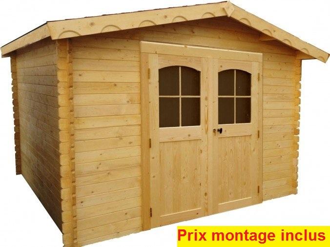abri de jardin Montigny 3,35 x 3,27 m avec montage Bouvara MON3030 ...