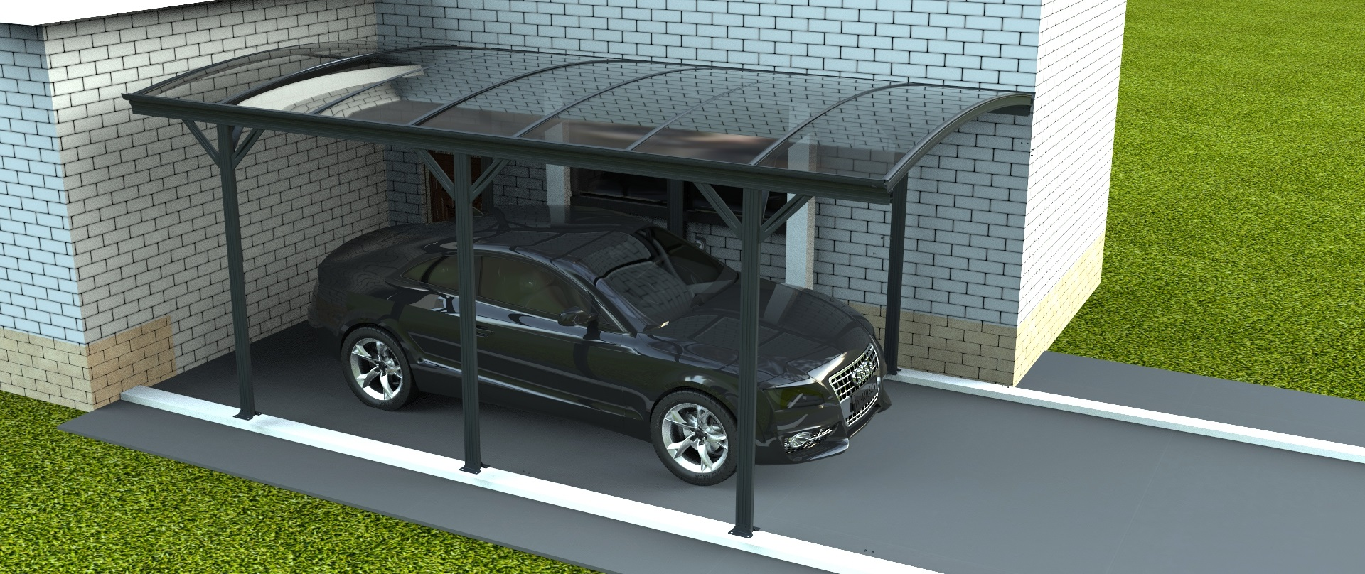 carport abri voiture 5x3 m anthracite bouvara cp7 abris. Black Bedroom Furniture Sets. Home Design Ideas