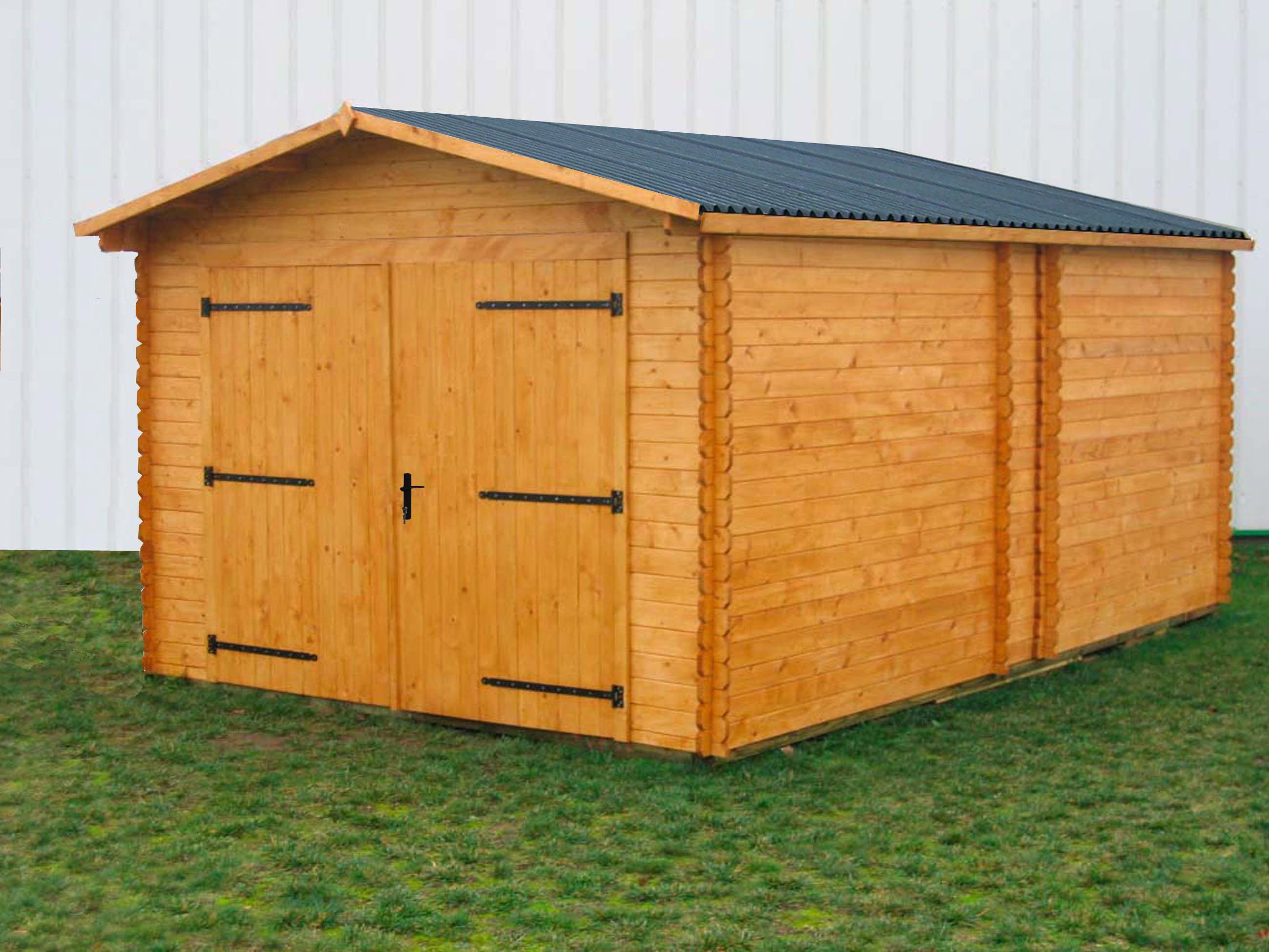 garage bois 19 m2 dorna x m bouvara do3554n. Black Bedroom Furniture Sets. Home Design Ideas