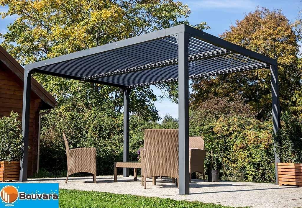 pergola alu 3 60x3m bioclimatique avec lames de toit orientables. Black Bedroom Furniture Sets. Home Design Ideas