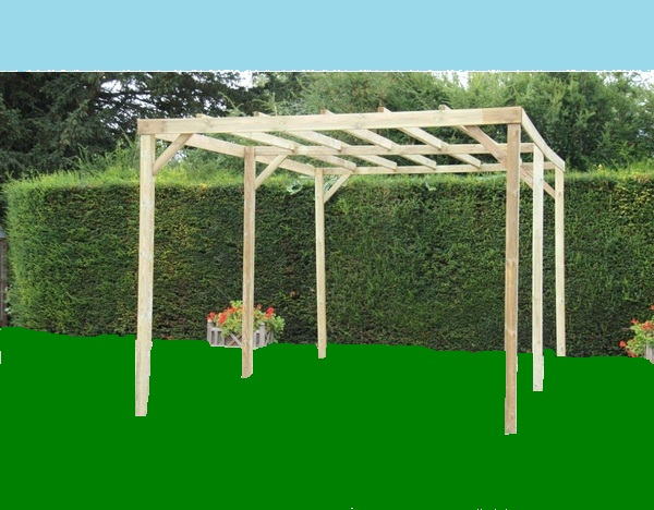 pergola en bois 3 x 5 m bouvara car3050a bouvara des prix attractifs avec la garantie qualit. Black Bedroom Furniture Sets. Home Design Ideas